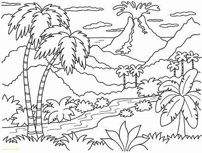 Sunset Coloring Beach Pages Tropical Getdrawings