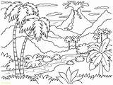 Sunset Coloring Beach Pages Tropical Getdrawings sketch template