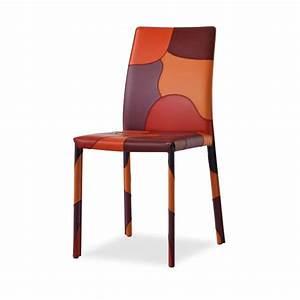 Chaise De Sejour : chaise de s jour en cro te de cuir patchwork 4 ~ Teatrodelosmanantiales.com Idées de Décoration