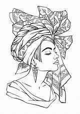 Coloring Pages African Queen Drawing Adults Face American Printable Adult Breastfeeding Colorings Getcolorings Getdrawings Colori Template sketch template