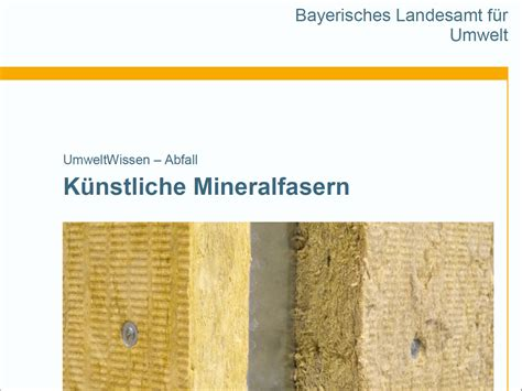 Kuenstliche Mineralfasern by K 252 Nstliche Mineralfasern D 228 Mmstoffe Publikationen