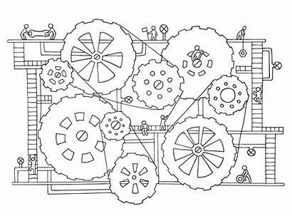 Goldberg Rube Engineering Artist Movement Machine Designs