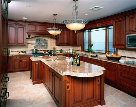 decorating  cherry wood kitchen cabinets  kitchen