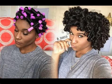 Rod Hairstyles Black Hair by Hairstyles Perm Rod Set Tutorial