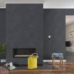 tapisserie pour bureau papier peint intissé uptown noir leroy merlin
