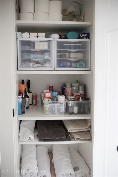 25 best ideas about bathroom closet organization on