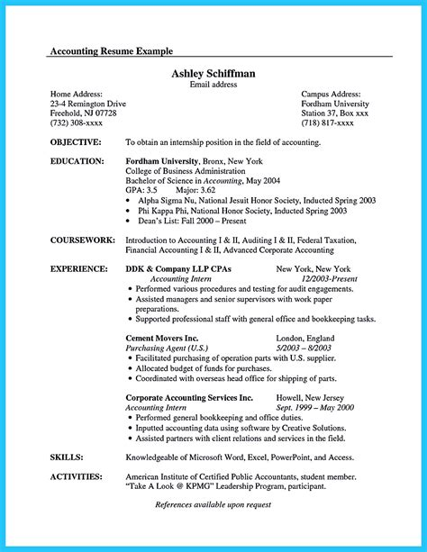 pin  resume samples sample resume format accountant