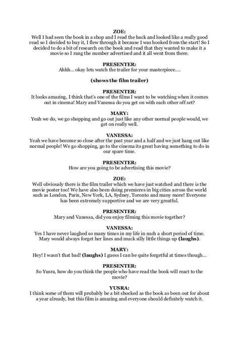 TV Show Script Sample