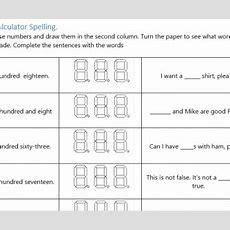Calculator Spelling Using Hundreds