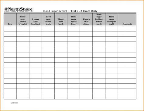 diabetes food log spreadsheet   blood sugar