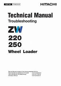 Hitachi Zw220  Zw250 Wheel Loader Service Manual