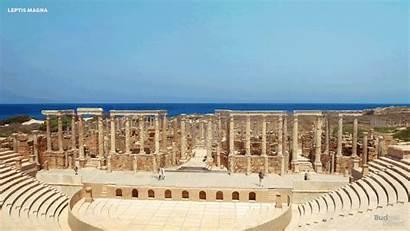 Leptis Theatre Magna Reconstructed Reconstruction Roman Ancient