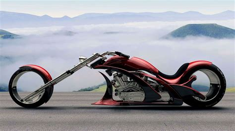 Futuristic Motorcyle : Future Chopper Motorcycle Wallpaper
