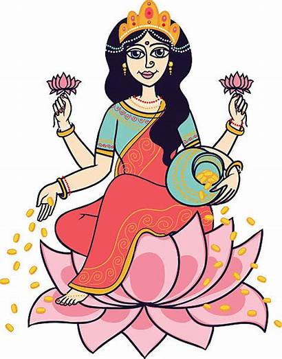Shakti Clip Vector Lakshmi Goddess Illustrations Hindu