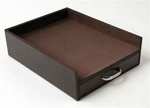 faux leather document tray with drawer in paper trays With leather document tray