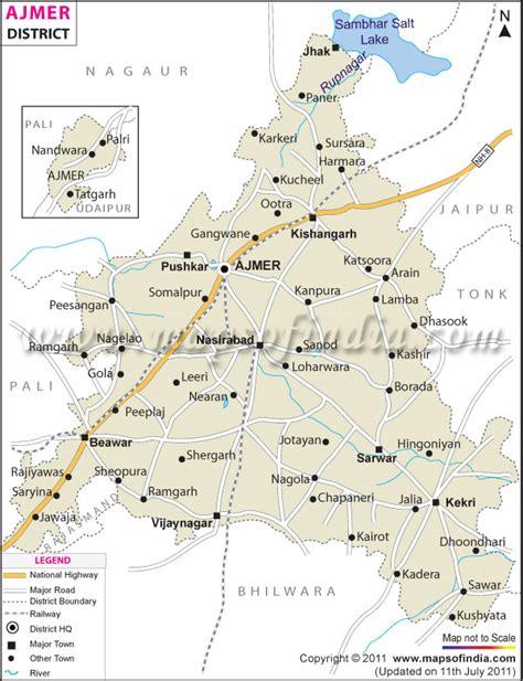 ajmer district map