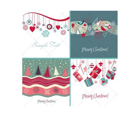 nice christmas decorations christmas card vectors various nice christmas card