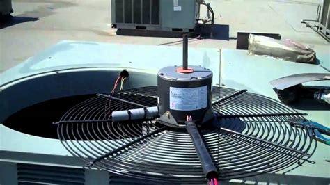 Hvac Rheem Condenser Fan Motor Change Out Youtube