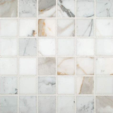 mosaic tiles calacatta gold polished 2x2 mosaic tile