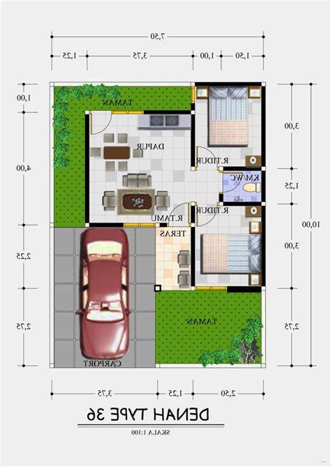denah rumah minimalis hemat biaya denah  biaya desain
