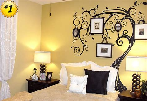 great interior bedroom design with alluring wall decoration again art decor ideas of tree plus