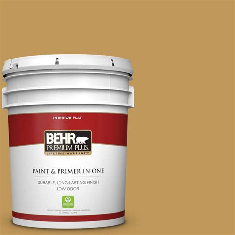 behr premium plus 5 gal 330d 6 townhouse flat low odor interior paint and primer in one