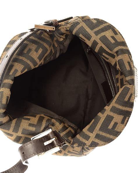 Fendi Monogram Shoulder Bag in Brown - Lyst
