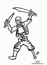 Coloring Pirate Skulls Skeleton sketch template