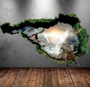 Dinosaur wall decal wall stickers full colour 3d dinosaur for Nice ideas dinosaur decals for walls