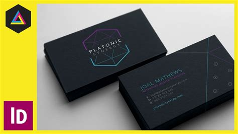 Create A Business Card In Adobe Indesign Ep715