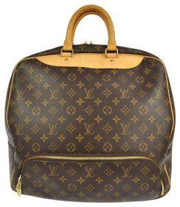 louis vuitton keepall  monogram canvas leather bag brown   tradesy