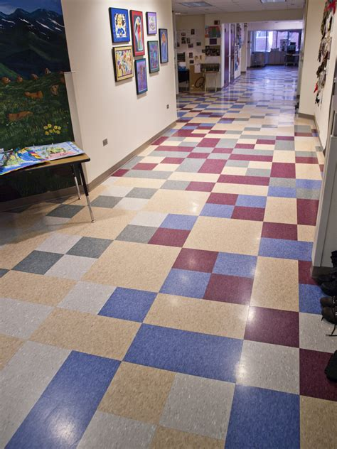 vct tile design patterns interior renovation at ricks center for gifted children