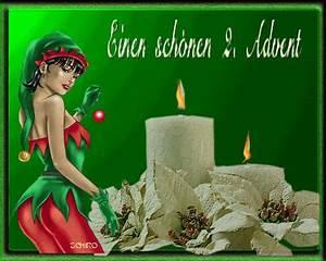 Grüße Zum 2 Advent Lustig : sch nen 2 advent whatsapp und facebook gb bilder gb pics ~ Haus.voiturepedia.club Haus und Dekorationen