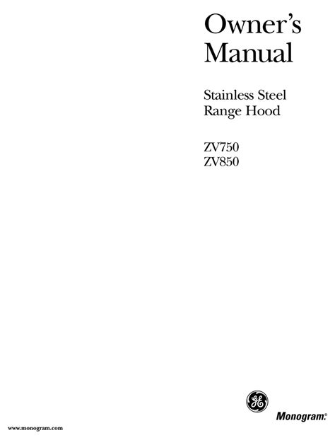 ge monogram zv owners manual   manualslib