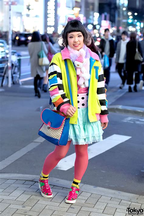 colorful harajuku street style w galaxxxy japan 6