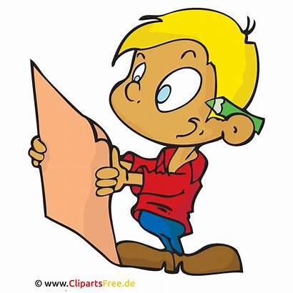 Clipart Cartoon Pupil Potlood Pencil Matita Studente