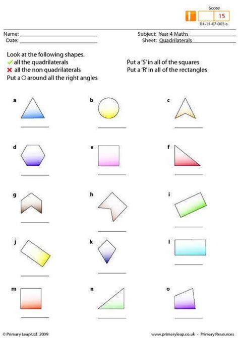 Classifying Quadrilaterals Worksheet Homeschooldressagecom
