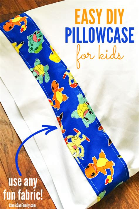 Easy Diy Pillowcase For Kids Use Any Fun Fabric