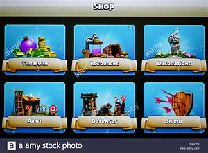 Clash Of Clans - Shop Area Stock Photo, Royalty Free Image ...