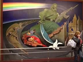 denver international airport bunker are the murals a