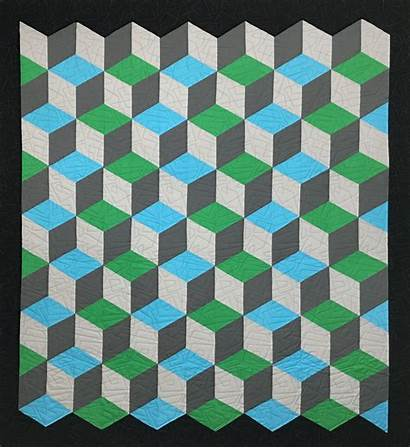 Quilt Rhombus Pattern Patterns Quilts Blocks Geometric