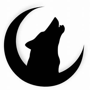 Wolf Howling With Moon Clip Art at Clker.com - vector clip ...