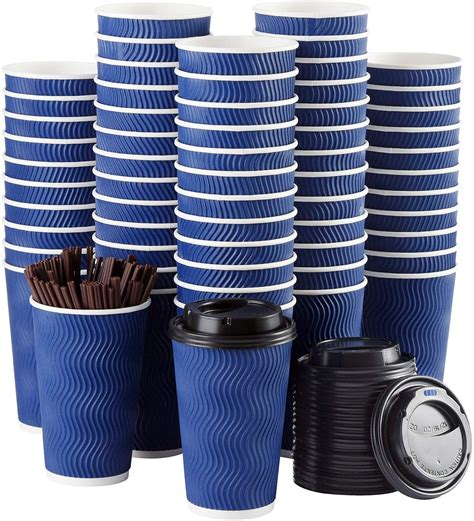They are great for coffee shops and stores, but can also be used at home for events such as weddings or parties. Disposable Coffee Cups Luckypack with Lids and Straws - 16 ...