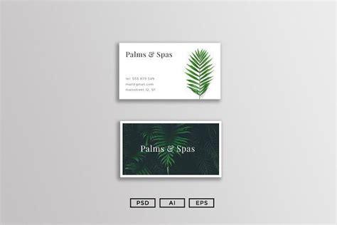 palms  spas business card  images spa business
