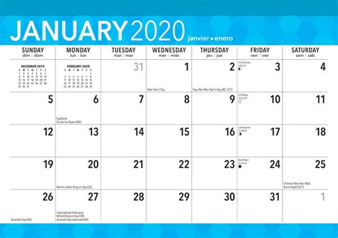large print monthly desk pad calendar easy