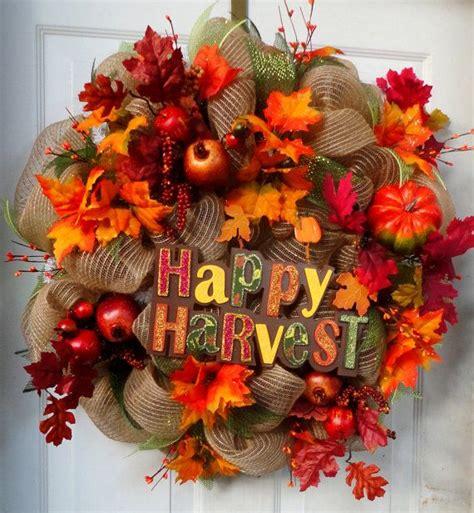 autumn wreath ideas fall deco mesh wreath ideas inspiring autumn decor for the house
