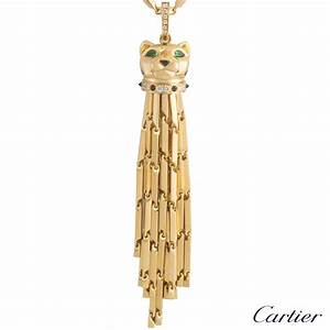 cartier 18k yellow gold panthere sautoir necklace n7051000 With sautoir