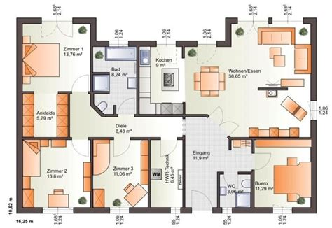 Bungalow 5 Zimmer Grundriss by Grundriss Haus Bungalow 5 Zimmer Cpro Pw