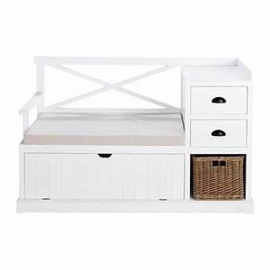 Meuble Entree Blanc : meuble d 39 entr e en bois blanc l 135 cm freeport maisons ~ Teatrodelosmanantiales.com Idées de Décoration