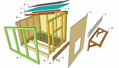 Dog Plans Diy Doghouse Outdoor Components Houses